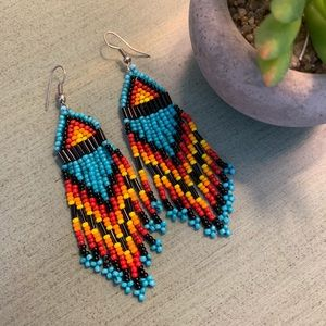 Anthropologie Jewelry - Anthropologie chic tribal earrings